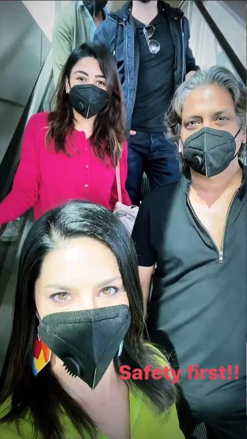 Masked Sunny Leone warns against Coronavirus: Be smart and be safe ...