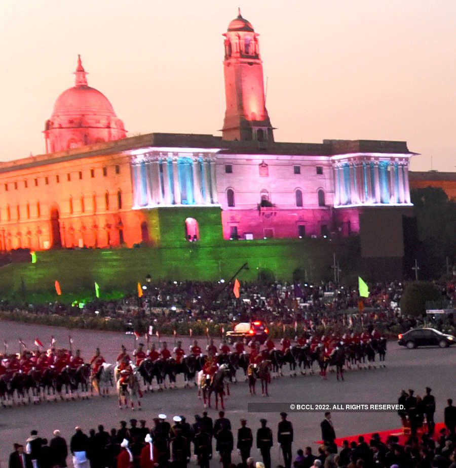 Mesmerising pictures from the Beating the Retreat ceremony