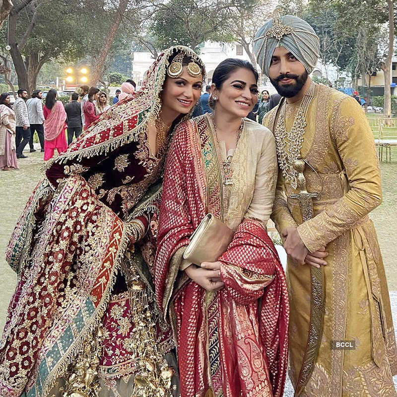 New pictures from Gurdas Maan's son Gurickk Maan & Simran Kaur Mundi's wedding