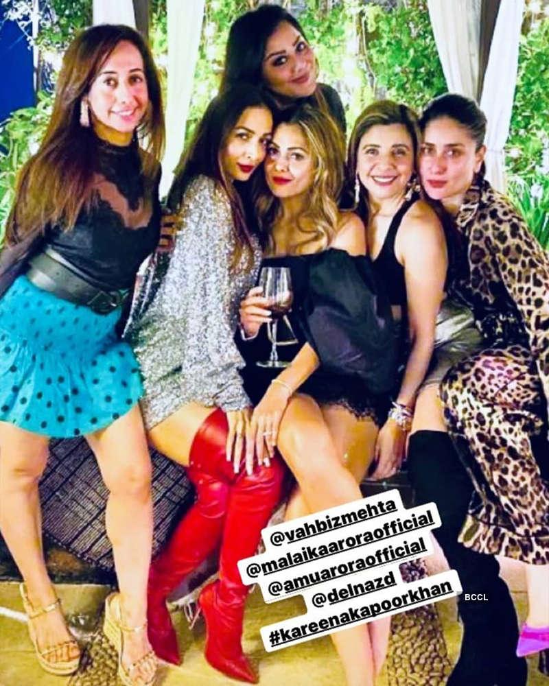 Malaika Arora makes heads turn in a shimmery dress at Amrita Arora's birthday party