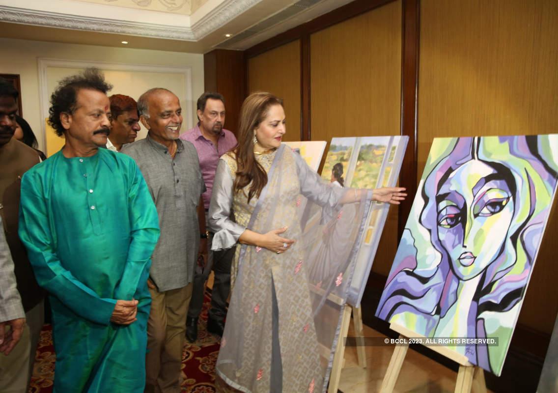 Jaya Prada attends an art exhibition