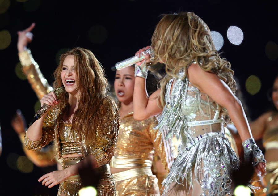 Super Bowl: Mesmerising pictures from Shakira and Jennifer Lopez's electrifying performance