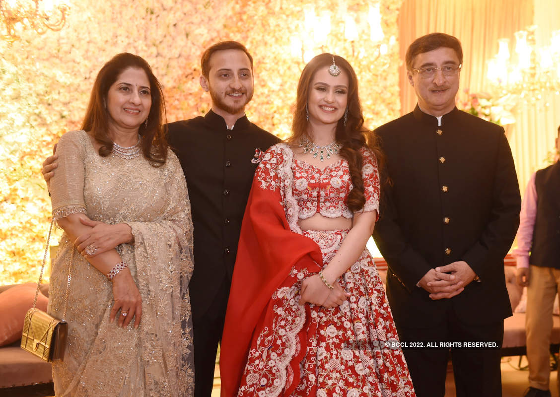 Political bigwigs grace the pre-wedding dinner of Rajya Sabha member Vivek Tankha's son