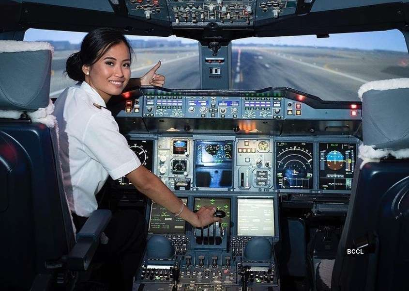 Meet Miss Belgium who flies planes in her spare time