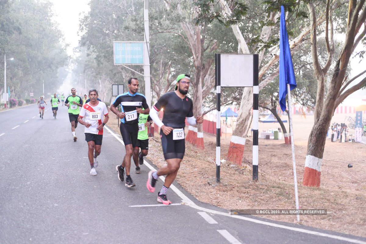 Goans participate in the duathlon