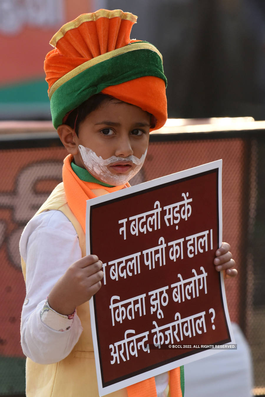 Pictures from full-throttle election campaign in Delhi