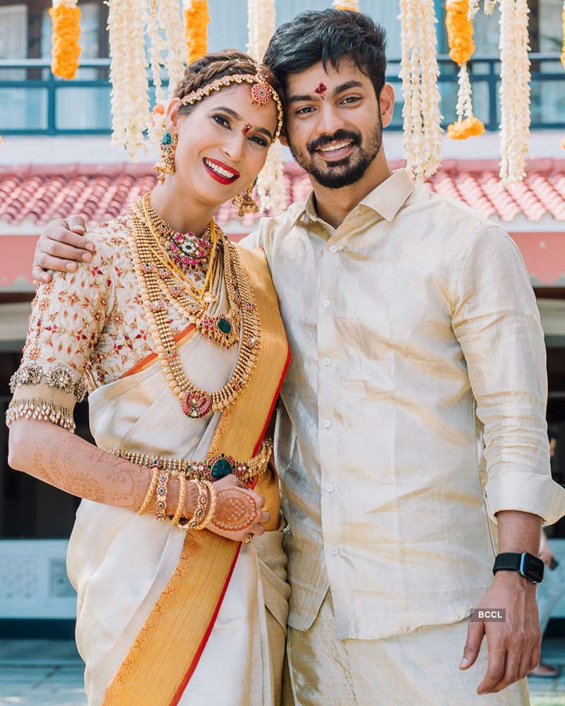 Inside pictures from Prachi Mishra and Mahat Raghavendra's wedding ceremony