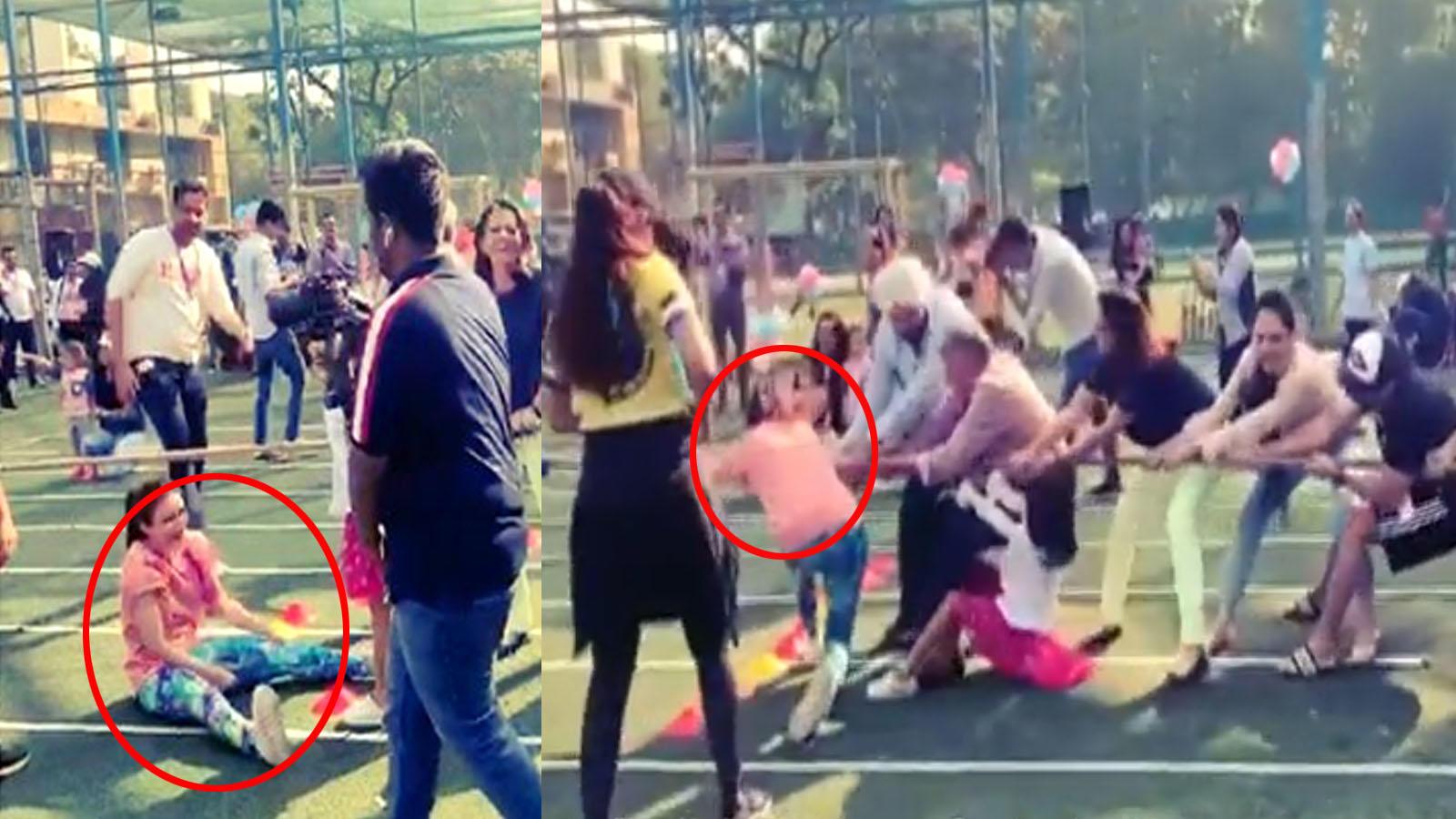 Watch: Soha Ali Khan plays tug of war at daughter Inaaya Naumi Kemmu's sports day celebration