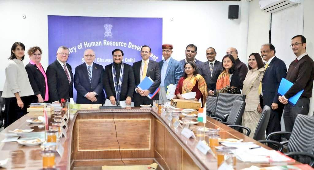 HRD minister invites Canadian students to study Yoga, Ayurveda, Hindi, Sanskrit and other Indian languages