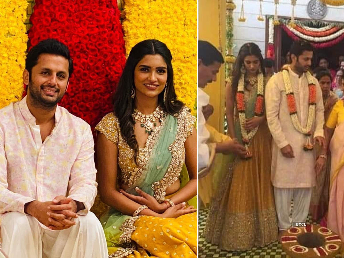 Telugu actor Nithiin ties the knot with long-time girlfriend Shalini Kandukuri