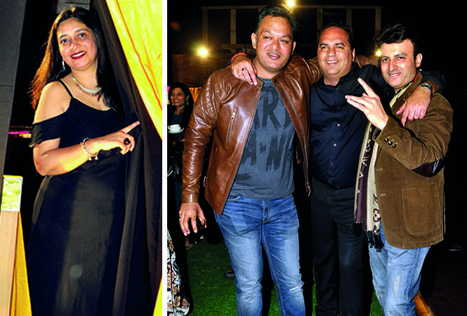 (L) Nidhi Oberoi (R) Pramat Gupta, Manuj Chugh and Sajan Kalra (BCCL/ AS Rathor)