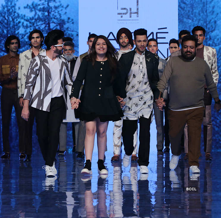 Label Pearl and Hariom dazzles at the Fashion Week, see pictures