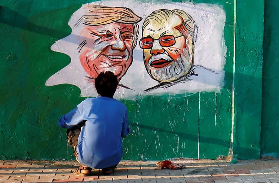 In pics: Ahmedabad decks up to welcome Donald Trump