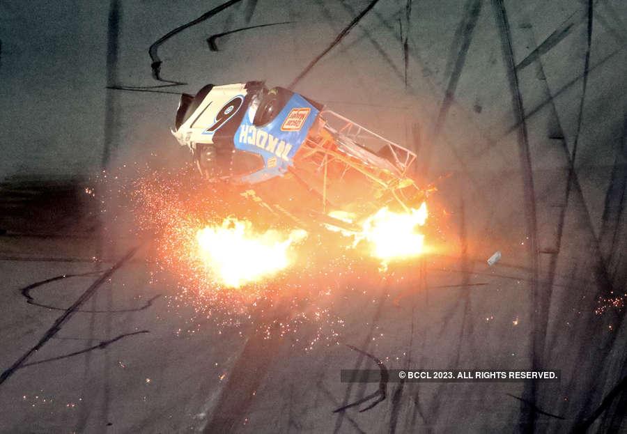 Hair-raising pictures of fiery crash at Daytona 500