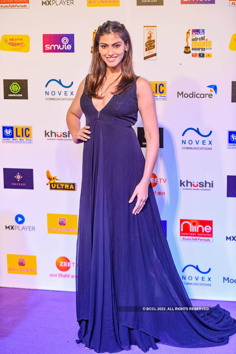 Beauty queens at 12th Smule Mirchi Music Awards 2020