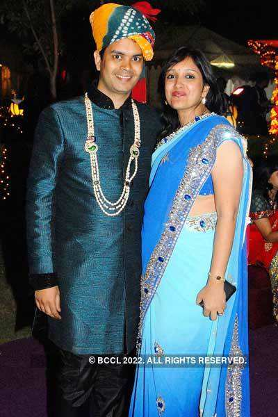 Rohit And Sumati Agrawal During The Wedding Ceremony Of Abhijeet And Komal Jaiswal In Udaipur Photogallery