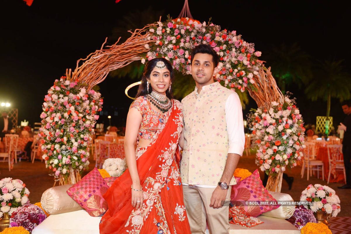 A fun night for Vaishnavi Mesineni and Sri Sharan at their pre-wedding ceremonies