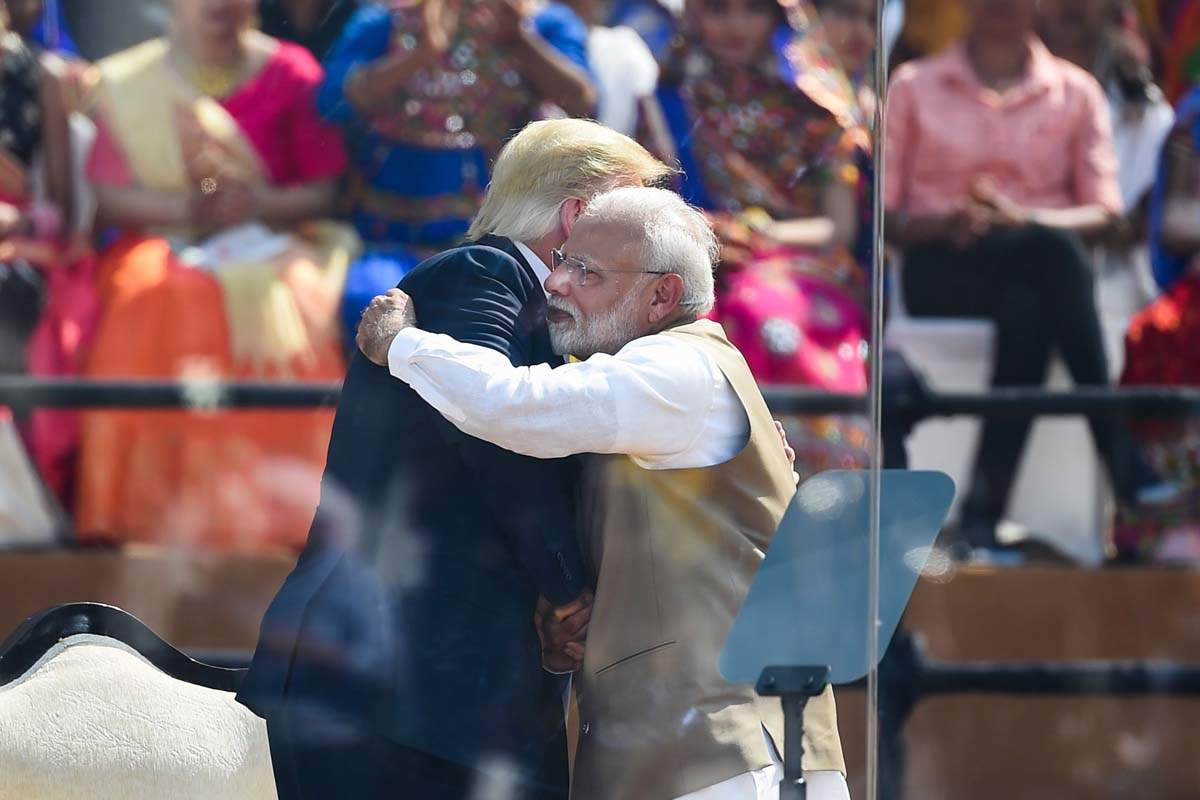Thousands gather as Donald Trump and Narendra Modi inaugurate Motera Cricket Stadium