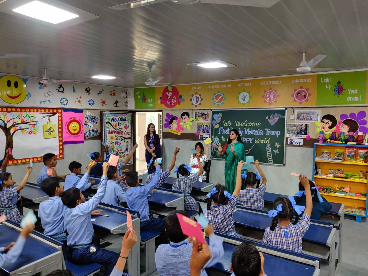 US First Lady Melania Trump to visit Delhi government school to attend Happiness class today