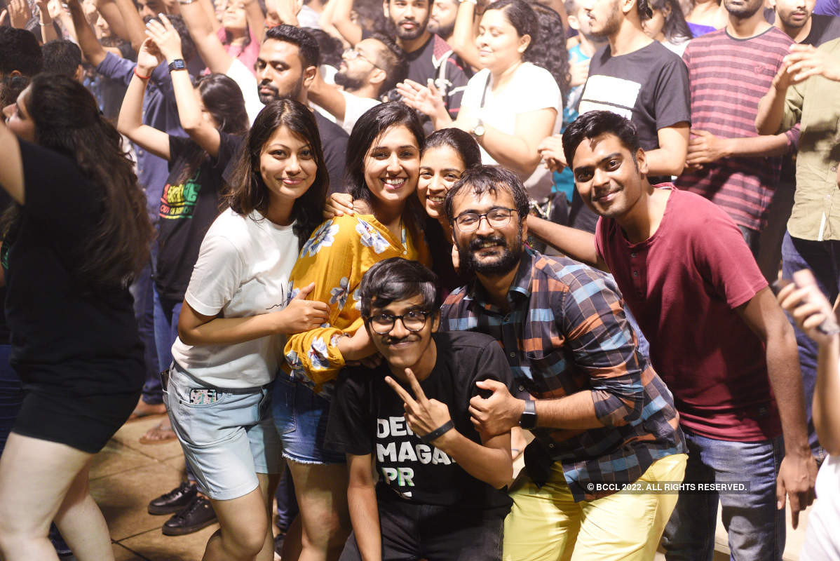 Students have a gala time at a college fest