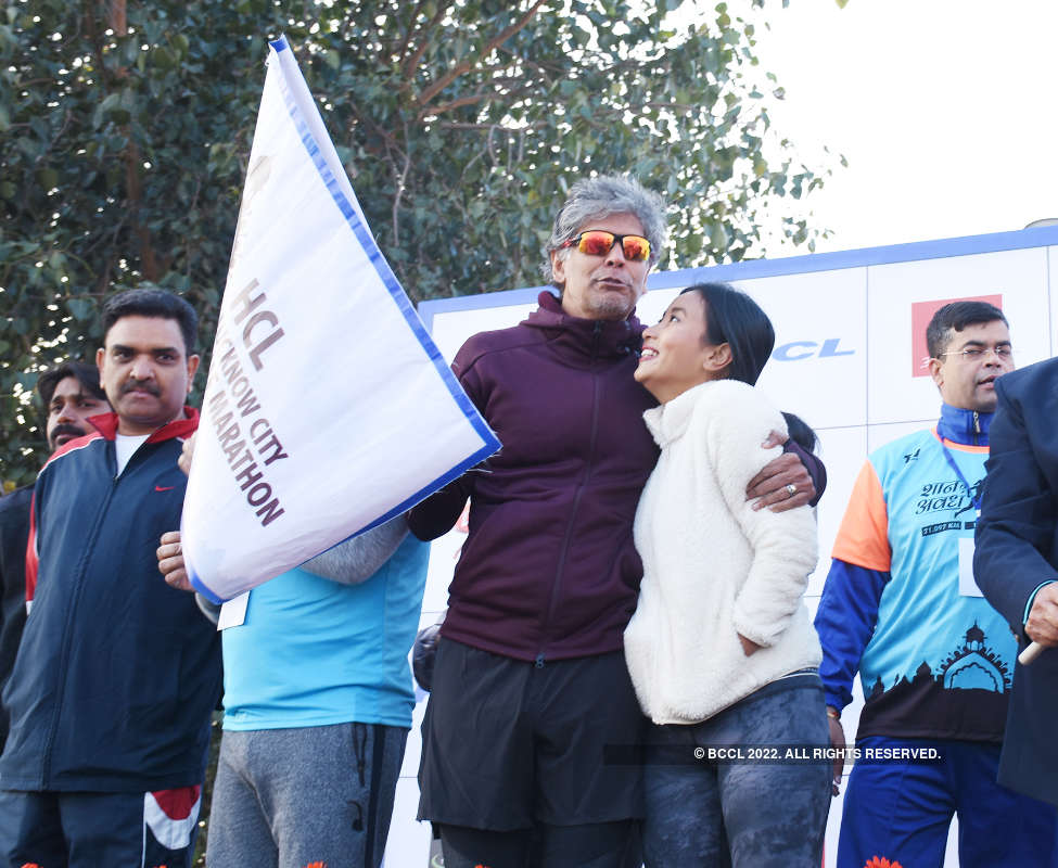 Lucknowites ran with Milind Soman in this half marathon