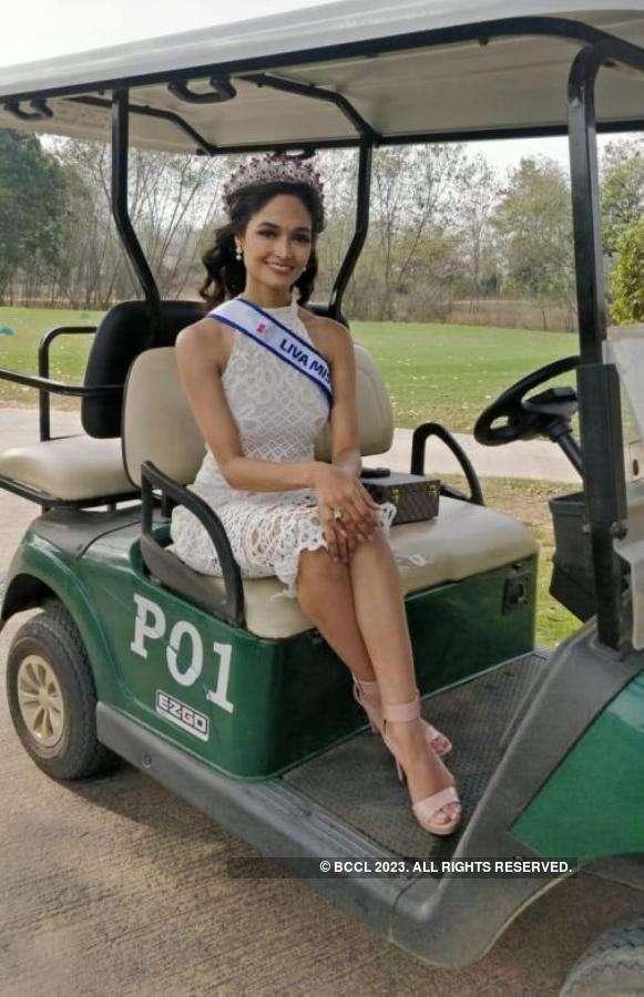 Neha Jaiswal attends The Golf Foundation Fund Raiser Tournament