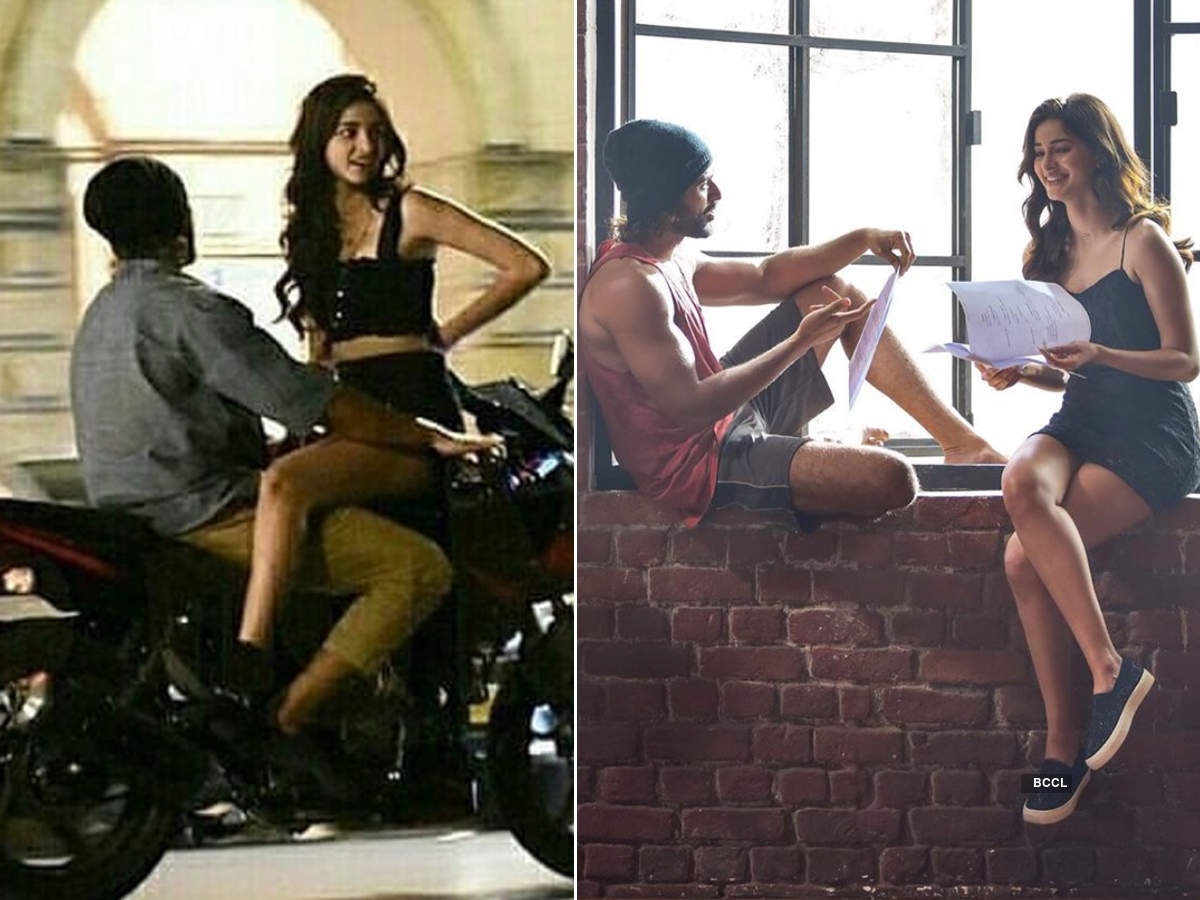 Viral pictures of Ananya Panday and Vijay Deverakonda taking a bike ride in Mumbai