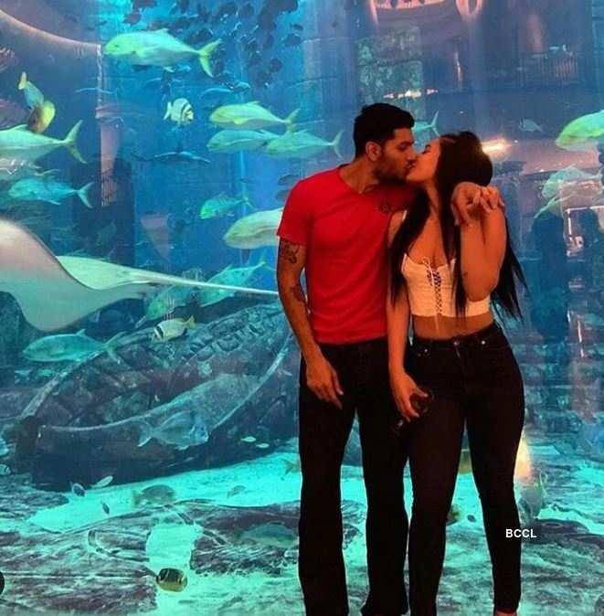 Tiger Shroff's sister Krishna shares a sweet kiss with her boyfriend Eban Hyams
