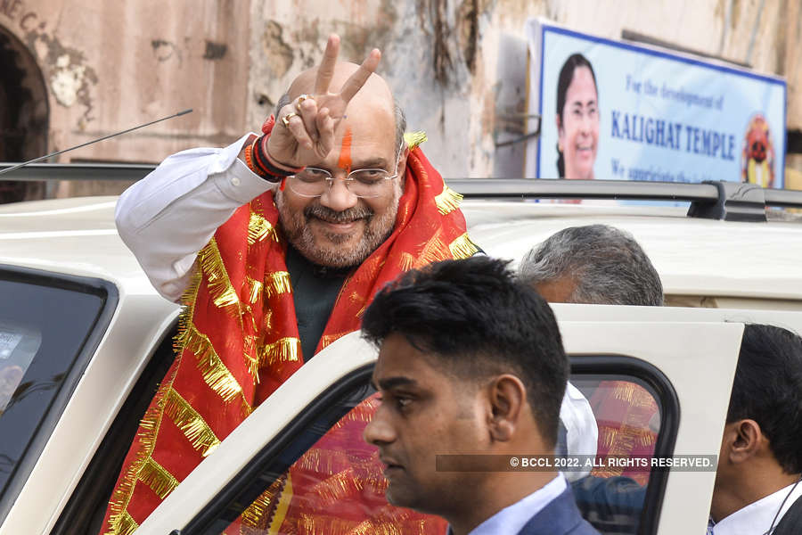Amit Shah holds mega rally in Kolkata