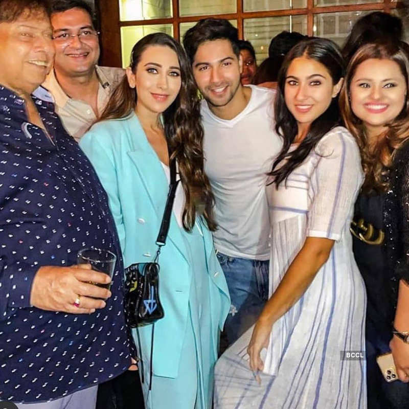 Varun Dhawan and Sara Ali Khan party hard as they wrap-up 'Coolie No 1' shooting