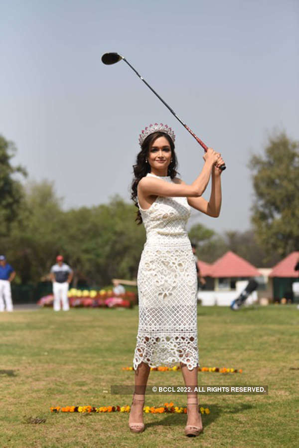 Neha Jaiswal attends a charity golf event