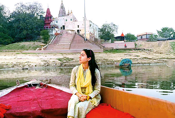 Picture of her Varanasi outing that Sara Ali Khan posted on Instagram (BCCL/ @saraalikhan95)