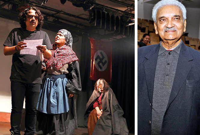 (L) A scene from the play (R) Dr Anil Rastogi (BCCL/ Aditya Yadav)