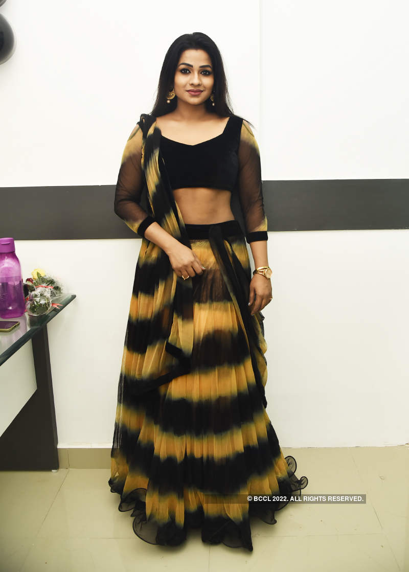 Priya Bhavani Shankar attends the launch of a clinic