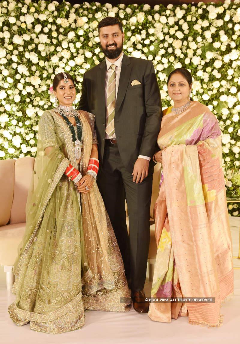 A star-studded wedding reception of Jayasudha's elder son Nihar