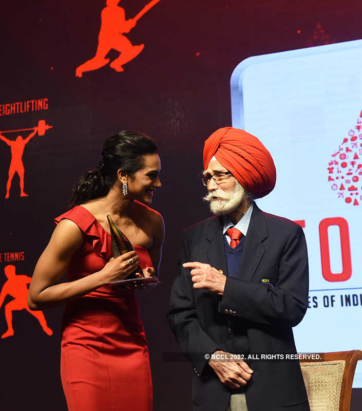 Candid pictures from Times of India Sports Awards 2019