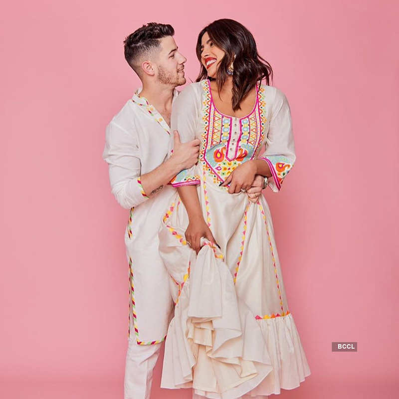 Priyanka Chopra and Nick Jonas have a gala time at Isha Ambani's Holi party