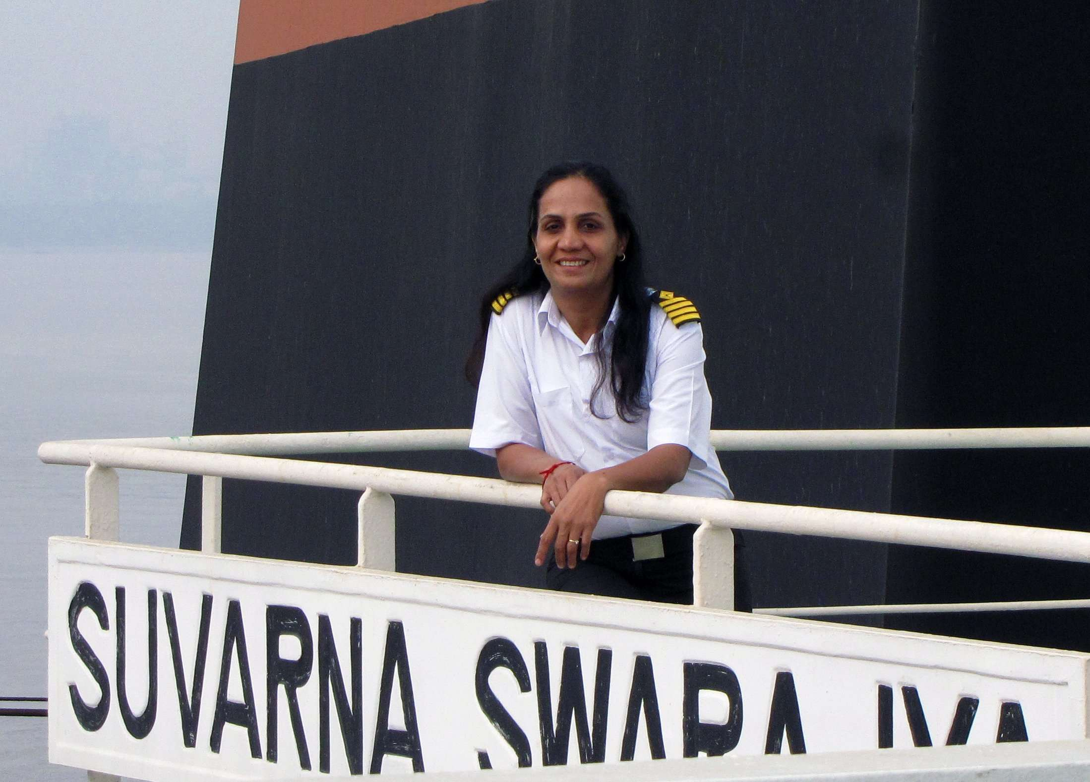 Women must be determined to set a benchmark in an unusual career, says first female Merchant Navy captain Radhika Menon