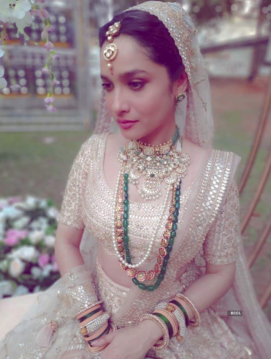 These pictures of Ankita Lokhande dressed up as a beautiful bride are making fans curious