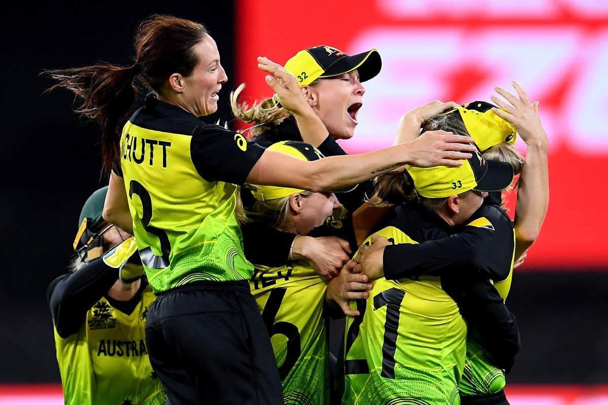Australia celebrates as they clinch fifth Women's T20 World Cup title