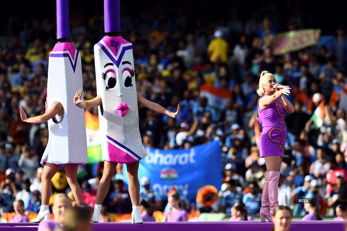 Stunning pictures of Katy Perry's performance during Women's T20 World Cup cricket final