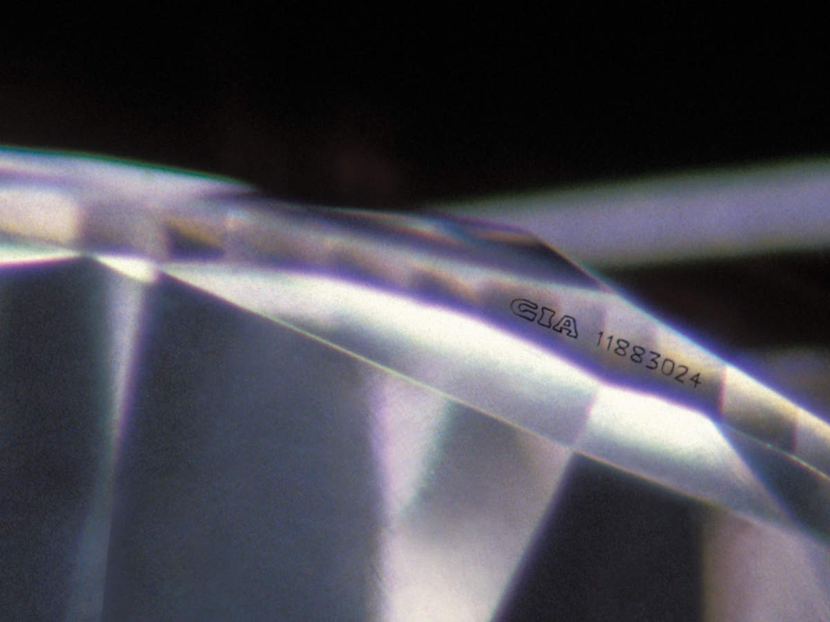 Diamond with GIA Laser Inscription