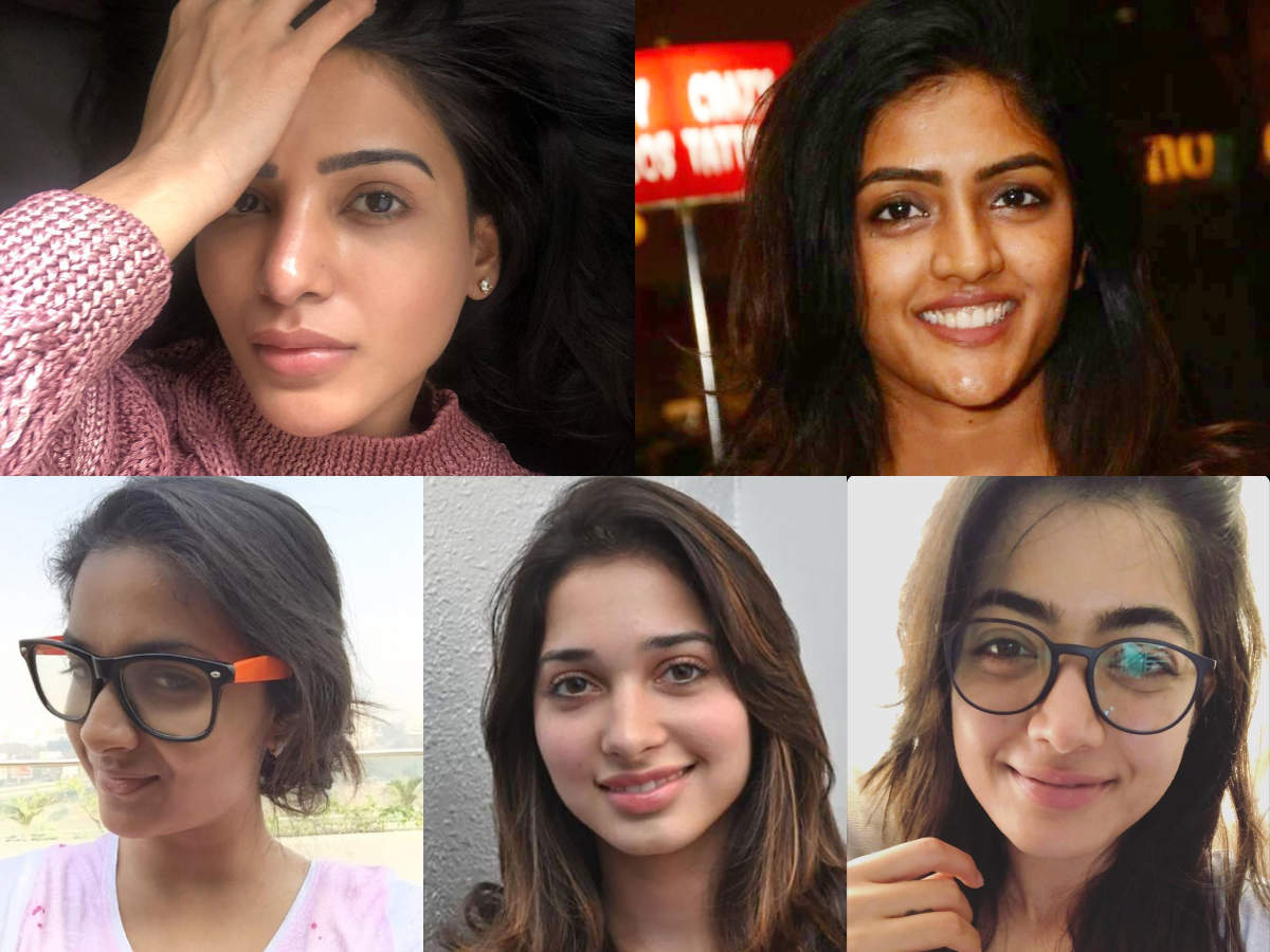 Actresses who embrace their bare faces proudly