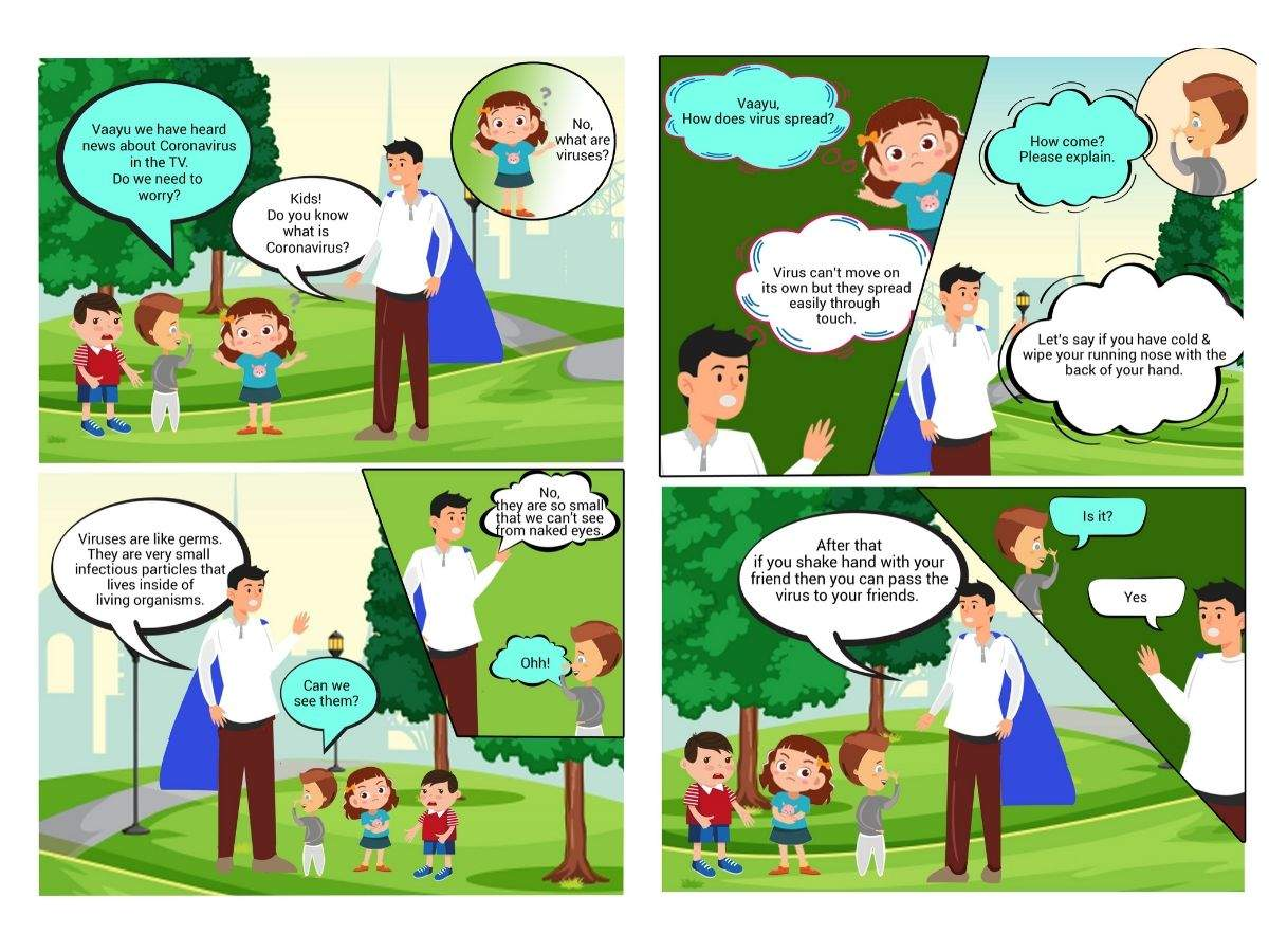 Government releases comic book for kids on Coronavirus awareness - Times of India
