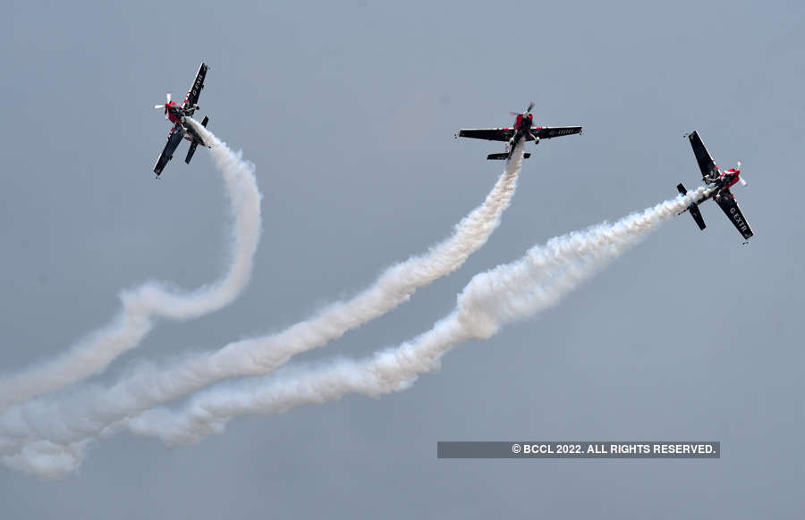 In pics: Pilots perform awe-inspiring stunts at Wings India 2020