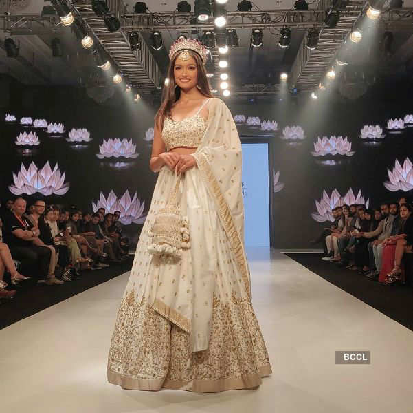 Neha Jaiswal walks the ramp at Bombay Times Fashion Week 2020
