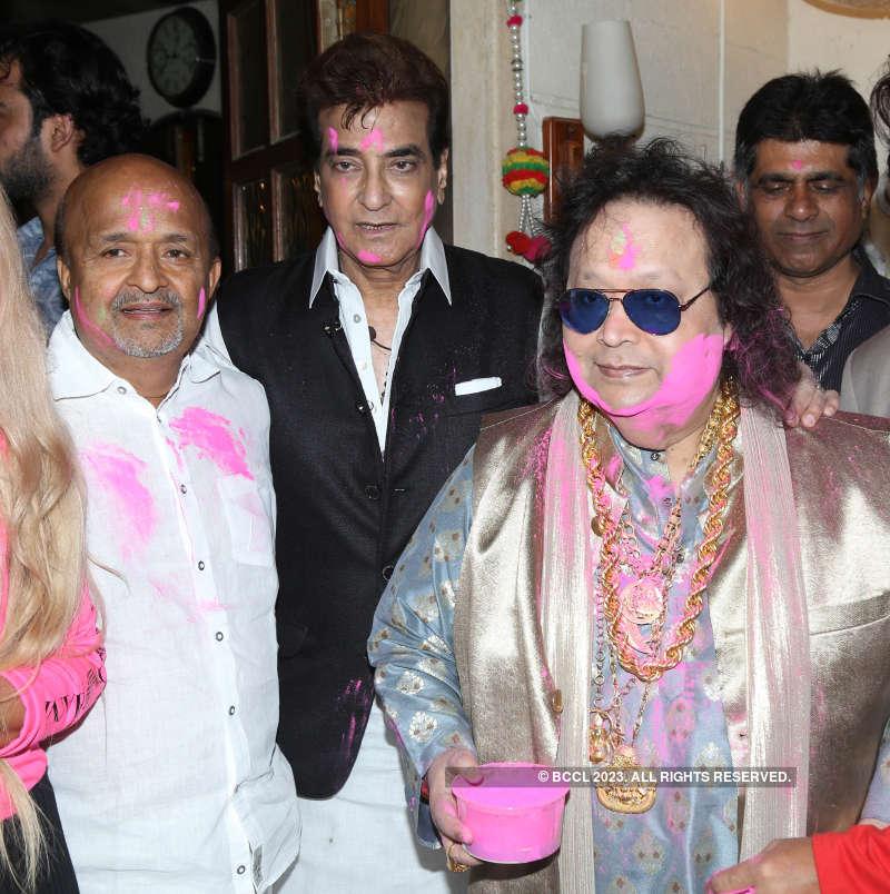Celebs at Bappi Lahiri's Holi party