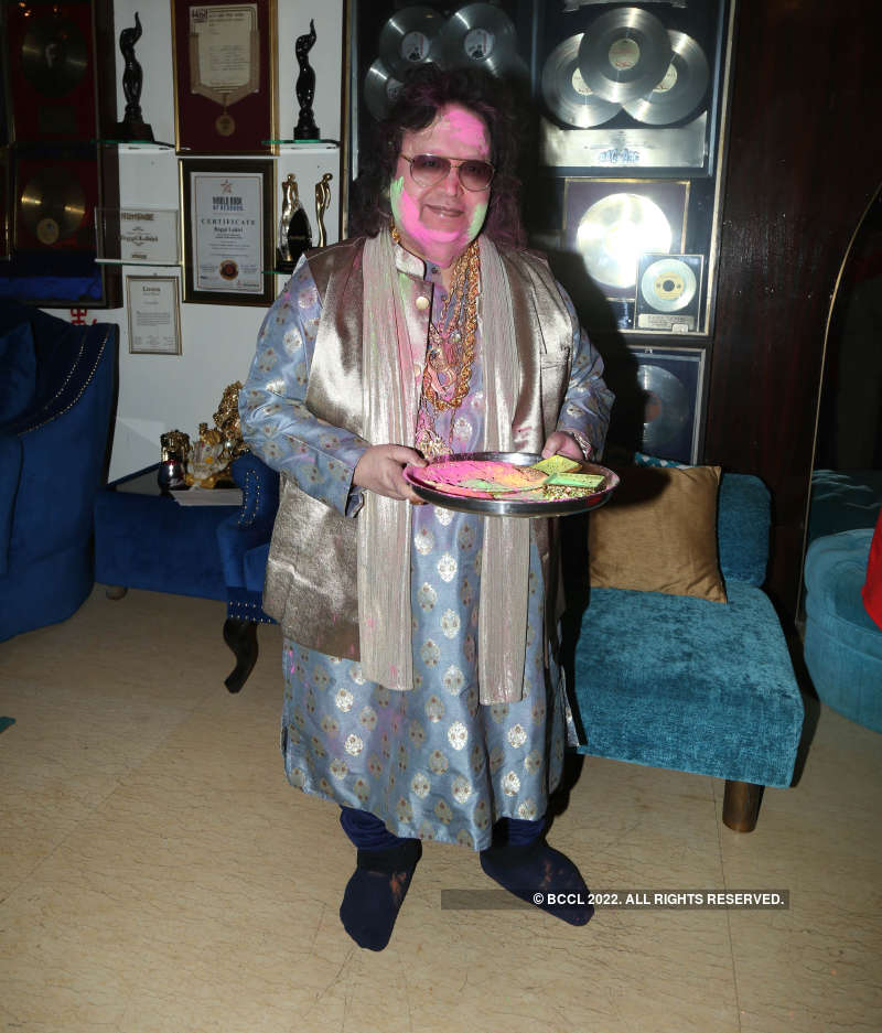Celebs at Bappi Lahiri's Holi party