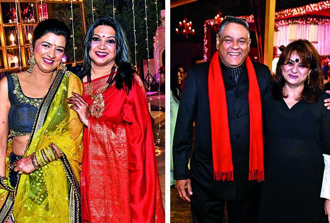 (L) Rachna and Rashmi (R) Amit Trivedi and Aprajita Sheti (BCCL/ Vishnu Jaiswal)