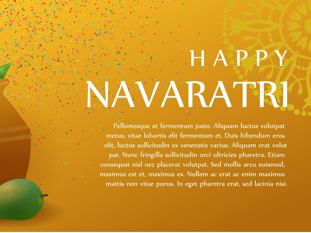 vector-realistic-isolated-background-poster-of-happy-navaratri-for-vector-id881090396